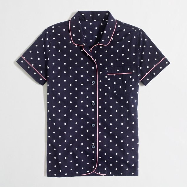 Factory dotted cotton sleep shirt