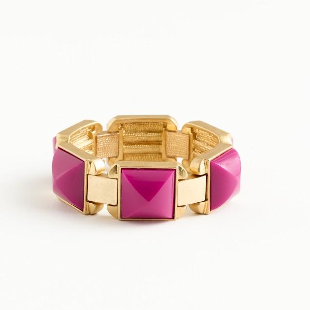 Factory elastic enamel square bracelet