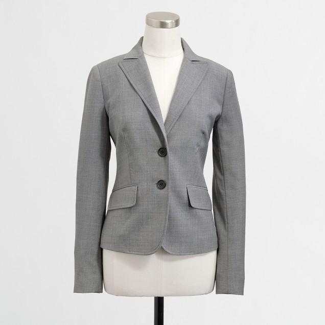 Factory suiting blazer in lightweight wool