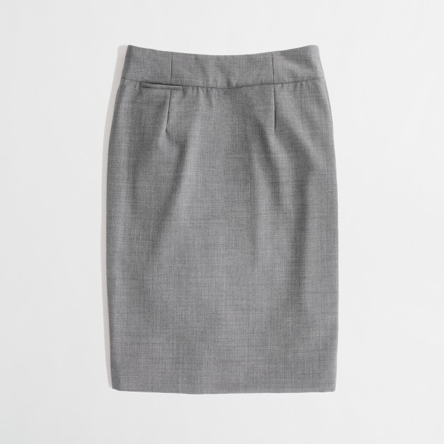 Factory pencil skirt in lightweight wool