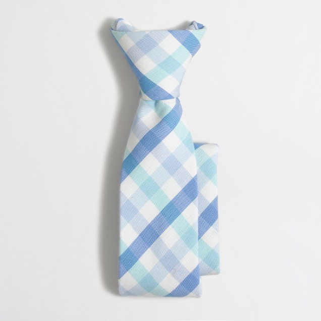 Boys' patterned cotton zipper tie