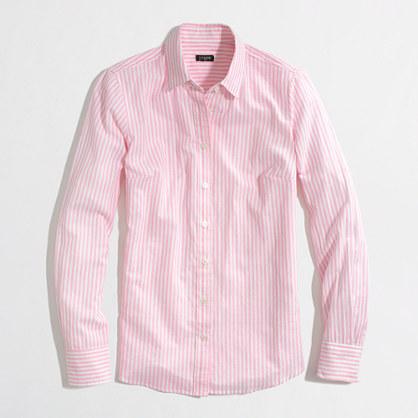 Factory stripe button-down shirt