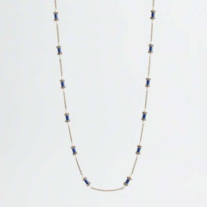Factory crystal dotted cylinder necklace