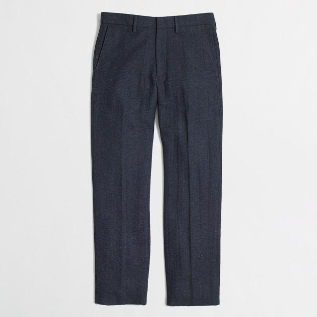 Factory Bedford pant in navy wool