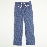 Factory checkered poplin sleep pant