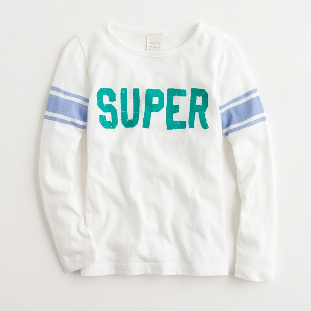 Factory girls' long-sleeve super keepsake tee