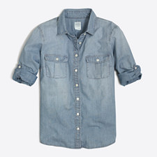 Sale on men 39 s women 39 s kids 39 clothing j crew factory sale for Chambray shirt for kids