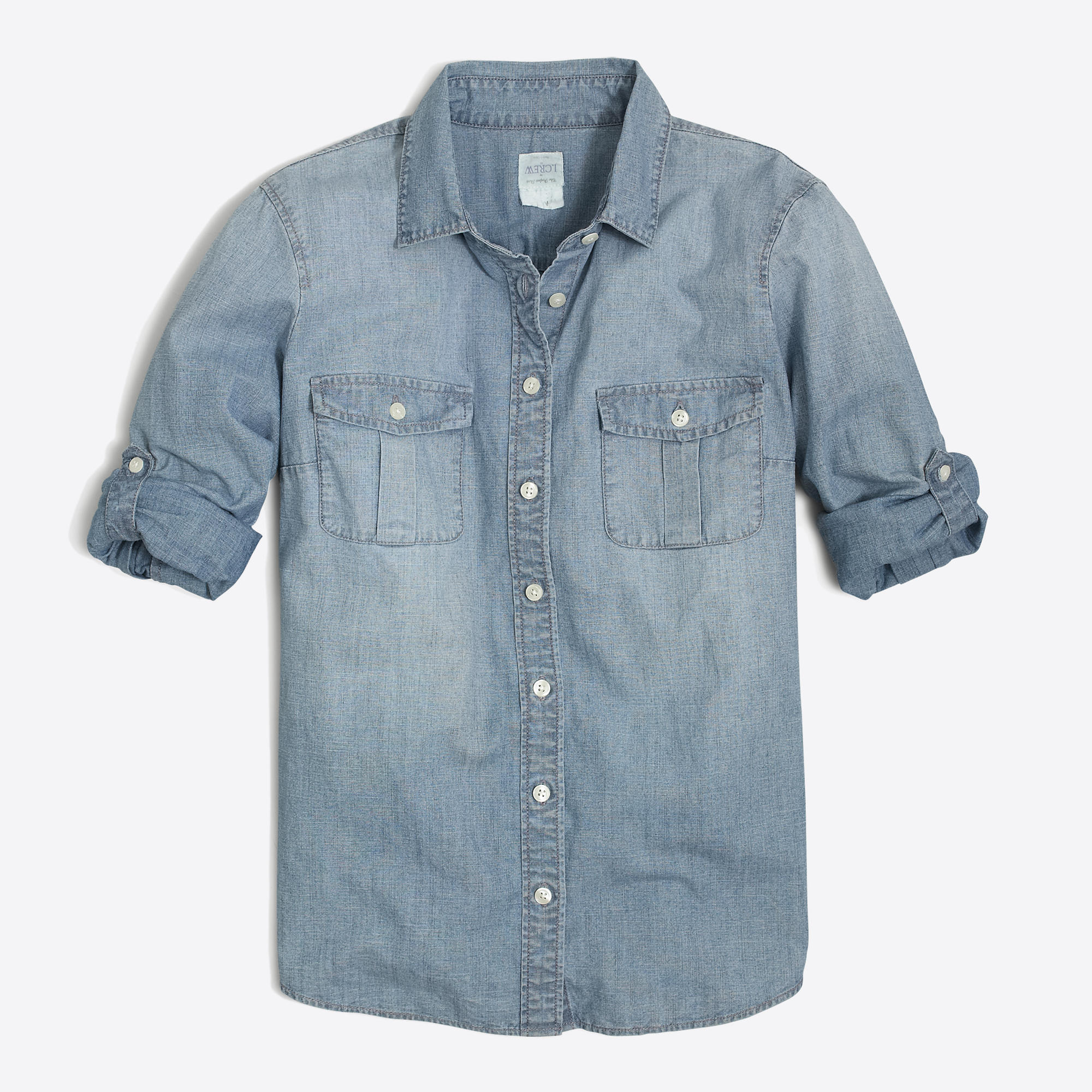 Classic chambray shirt in perfect fit women 39 s shirts j for Chambray shirt women