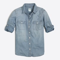 Classic chambray shirt in perfect fit