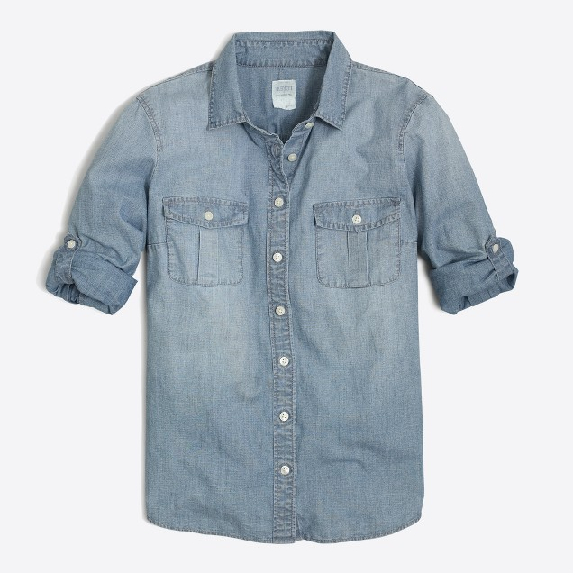 Petite classic chambray shirt in perfect fit
