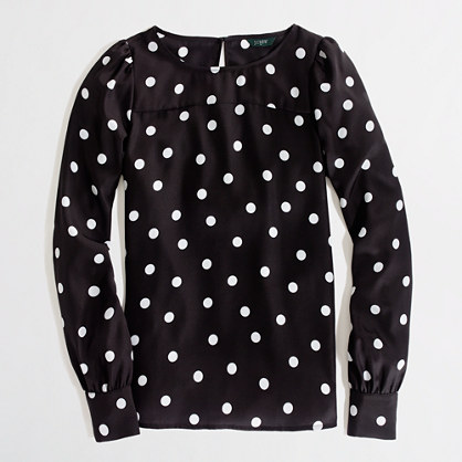 Factory printed boatneck blouse
