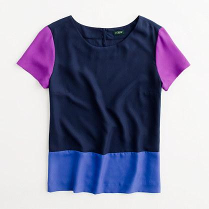 Factory draped colorblock top