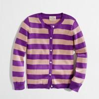 Factory girls' cotton stripe cardigan