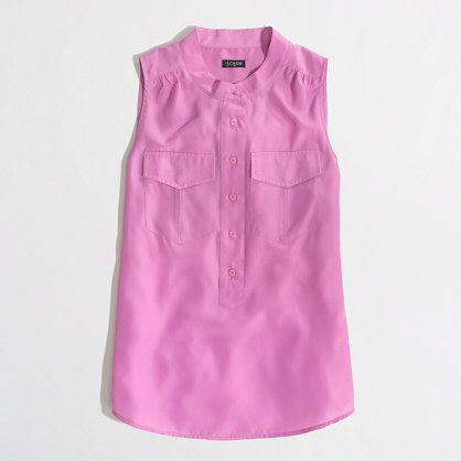 Factory sleeveless popover