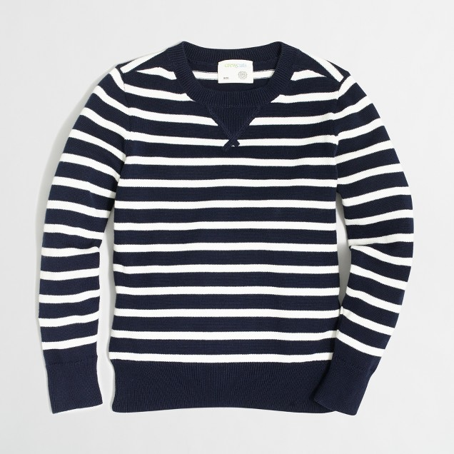 Factory boys' stripe sweatshirt sweater