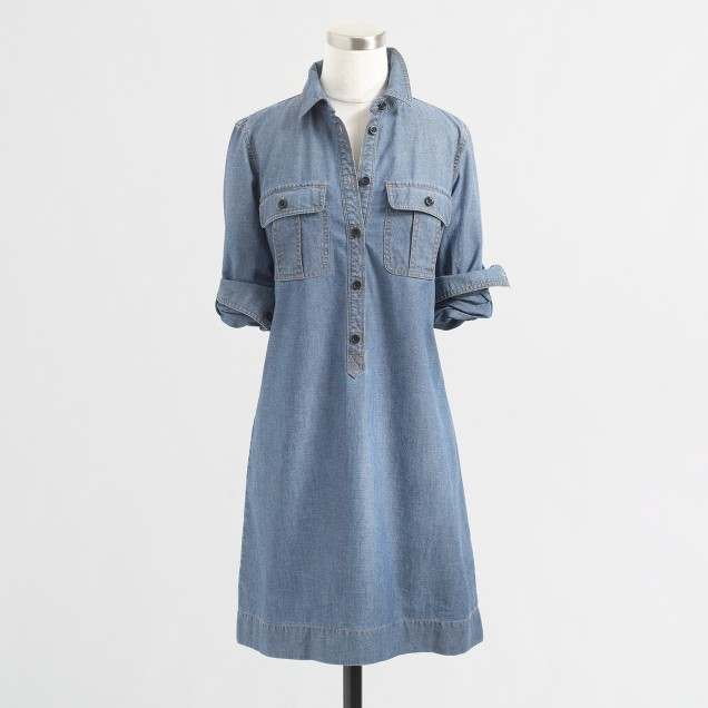 Factory classic chambray shirtdress