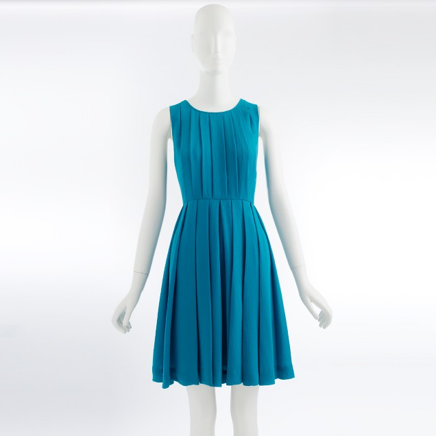 Factory pleated shift dress