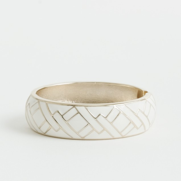 Factory enameled panel bangle