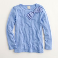 Factory girls' long-sleeve bow tee