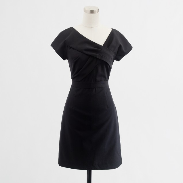 Factory asymmetric shift dress