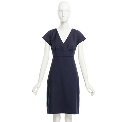 Factory Workday dress in pinstripe