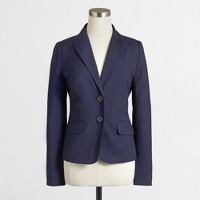 Factory suiting blazer in pinstripe wool