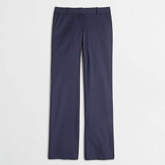 Factory suiting pant in pinstripe wool