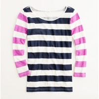 Factory two-tone stripe tee