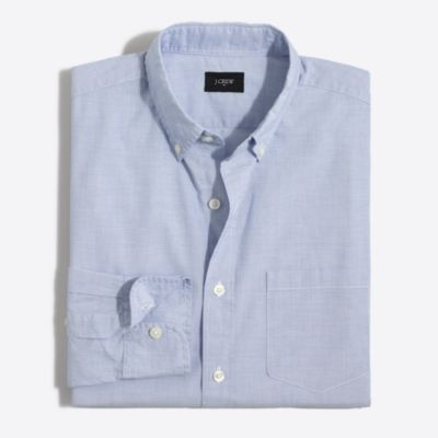 Slim washed shirt in end-on-end