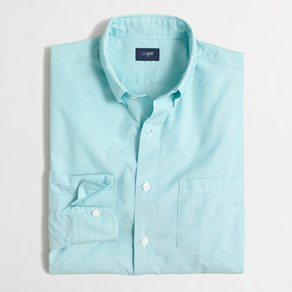 Slim tall washed shirt in end-on-end