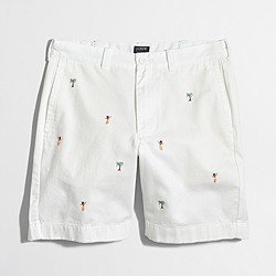 "Factory 9"" embroidered Gramercy short"