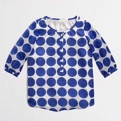 Factory girls' violet poet blouse