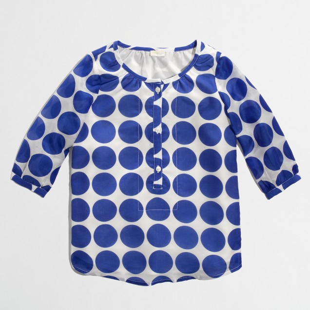 Factory girls' violet poet blouse