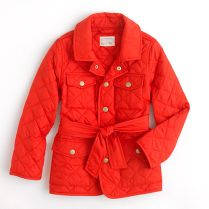 Factory girls' lightweight quilted jacket