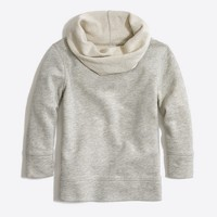 Girls' cowlneck sweatshirt