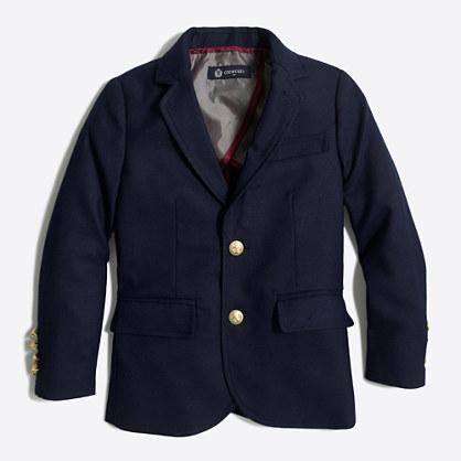 Boys' gold-button blazer
