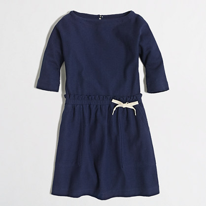 Factory girls' boatneck pocket dress