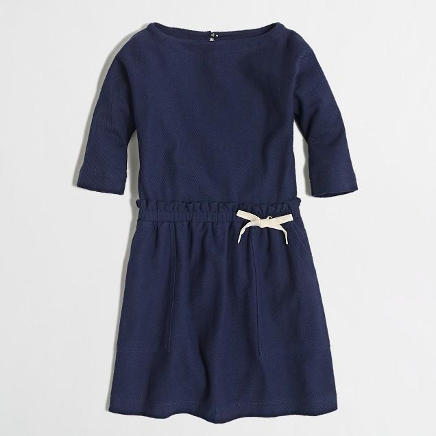 Factory girls' boatneck pocket dress