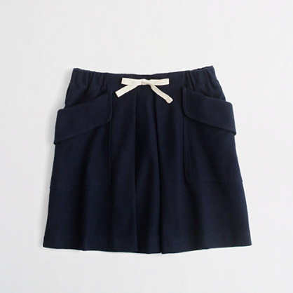 Factory girls' pleated pocket skirt