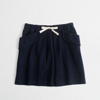 Factory girls' pleated pocket skirt