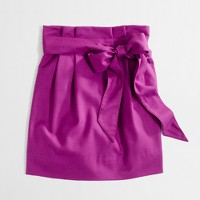 Factory pleated sash skirt