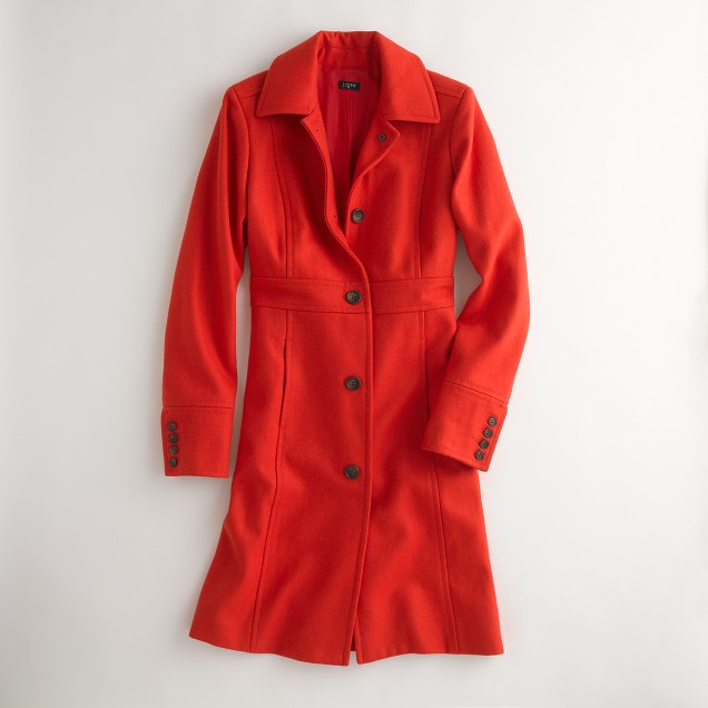 Factory wool walking coat