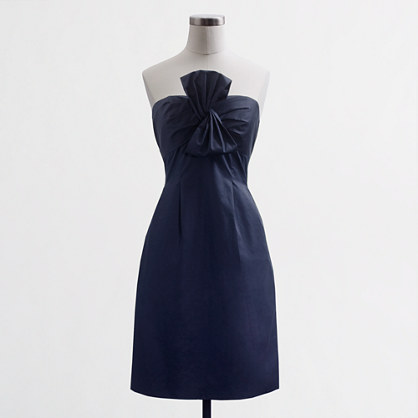 Factory strapless twisted bow dress