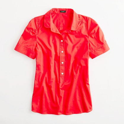 Factory short-sleeve popover blouse
