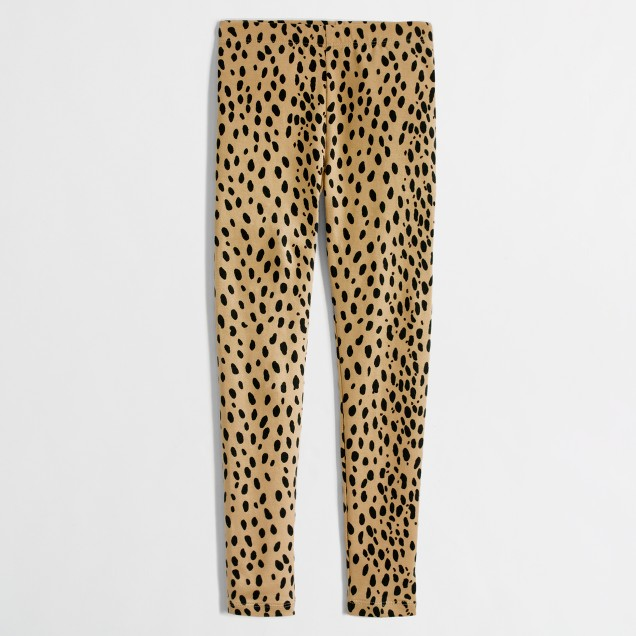 Factory girls' leopard leggings