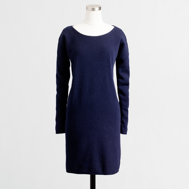 Factory boatneck sweater-dress