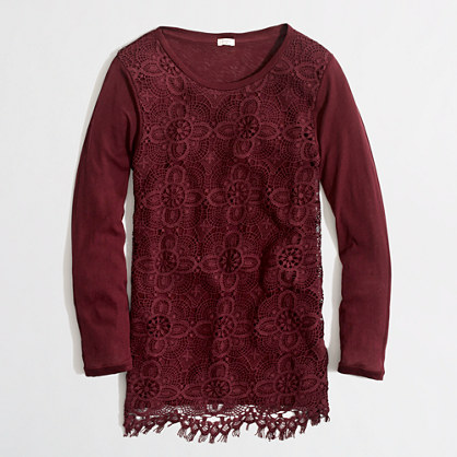 Factory lace-front tee