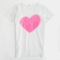 Factory sequin heart graphic tee