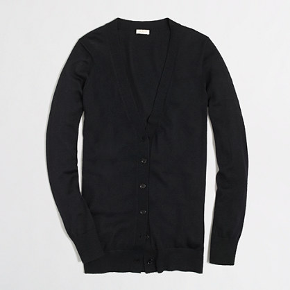 Factory merino long cardigan