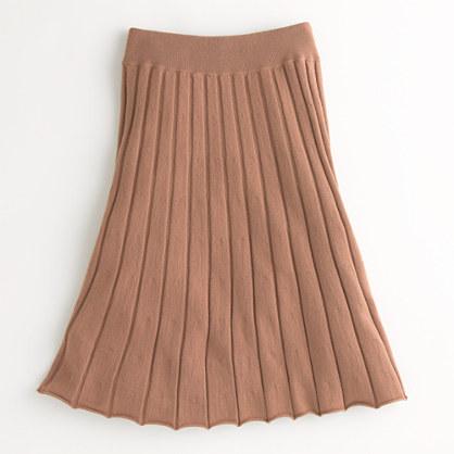Factory merino pleated midi skirt